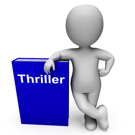 thriller: Thriller Book And Character Showing Books About Action Adventure  Mystery