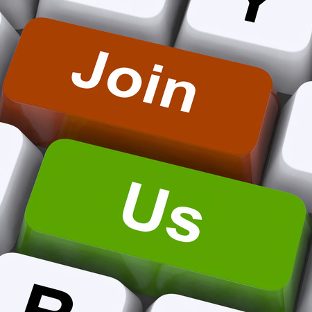 subscription: Join Us Keys Meaning Membership Or Subscription