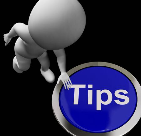 hints: Tips Button Showing Hints Suggestions And Help