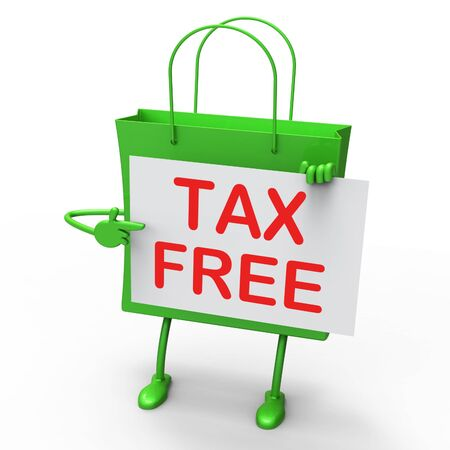 exempt: Tax Free Bag Showing Duty Exempt Discounts Stock Photo