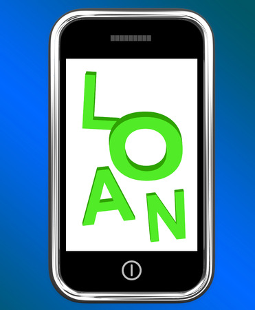 loaning: Loan On Phone Meaning Lending Or Providing Advance