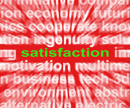 fulfilment: Satisfaction Word Showing Enjoyment Contentment And Fulfilment