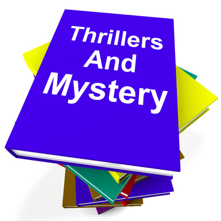 genre: Thrillers and Mystery Book Stack Showing Genre Fiction Books