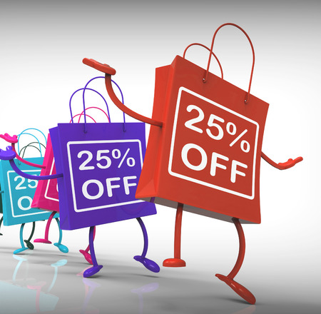 Twenty-five Percent Off Bags Shows 25 Sales photo