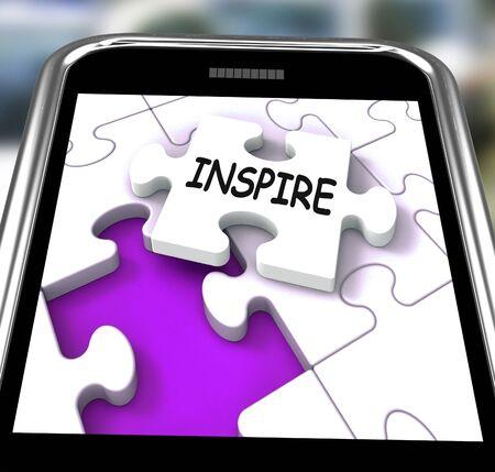 originality: Inspire Smartphone Showing Originality Innovation And Creativity On Web
