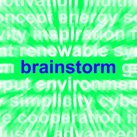 creatively: Brainstorm Word Meaning Thinking Creatively Problem Solving And Ideas