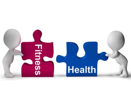 fitness and health: Fitness Salute puzzle che mostra Salute Archivio Fotografico