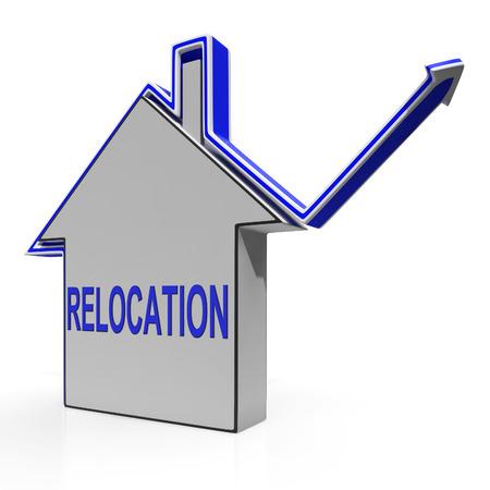 lak�hely: Relocation Ház Jelentés eltolódása és a változás az Residency Stock fotó
