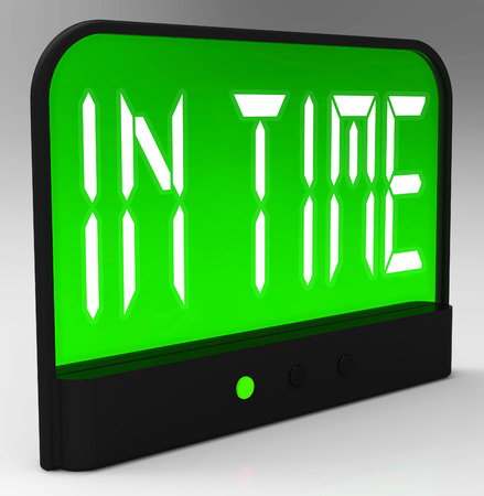 puntual: En Time Clock Significado puntual o no Late