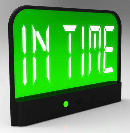 llegar tarde: En Time Clock Significado puntual o no Late
