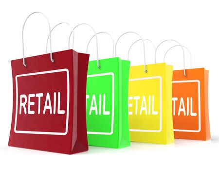 Retail Shopping Bags Showing Buying Selling Merchandise Sales Stock Photo - 26235428