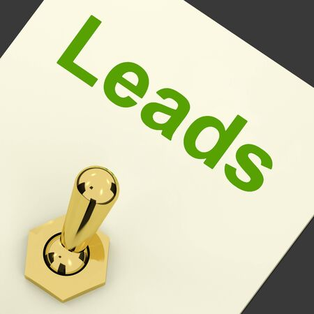 Leads Switch Means Lead Generation And Sales photo