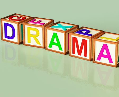 theatrics: Drama Blocks Showing Roleplay Theatre Or Production Stock Photo