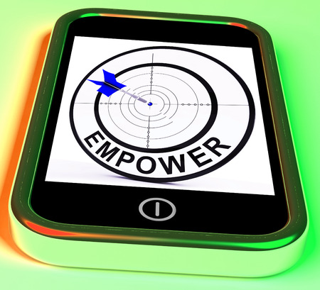 empowered: Empower Smartphone Meaning Provide Tools And Encouragement