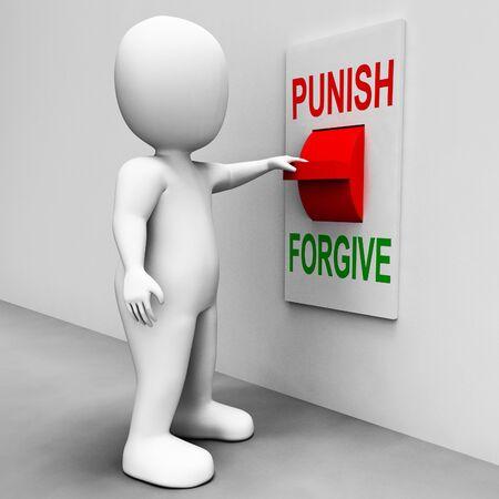 forgiving: Punish Forgive Switch Showing Punishment or Forgiveness Stock Photo