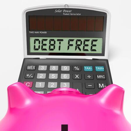 obligaciones: Libre Deuda Calculadora Significado No hay pasivos o deudas