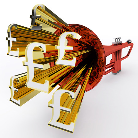 Pound Sign Showing British Wealth And Money photo