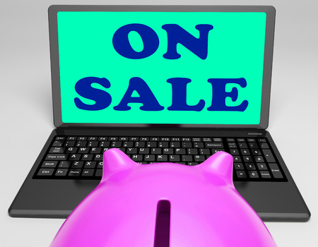 specials: On Sale Laptop Showing Internet Discounts And Specials