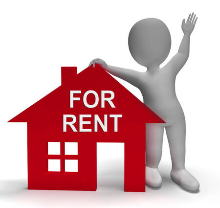 For Rent House Showing Rental Or Lease Property Stock Photo