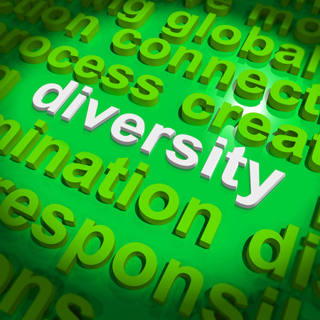 ethnically diverse: Diversity Word Cloud Showing Multicultural Diverse Culture