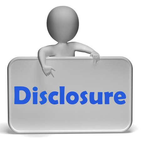 Disclosure-Zeichen, Ankündigung Eintritt auf Offenbarung Lizenzfreie Bilder