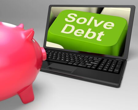 Solve Debt Key Meaning Solutions To Money Owing Stock Photo - 26236281