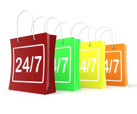 24x7: Twenty Four Seven Shopping Bags Showing Open 247