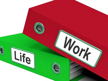 work life balance: Life Work Folders Meaning Balance Of Career And Leisure