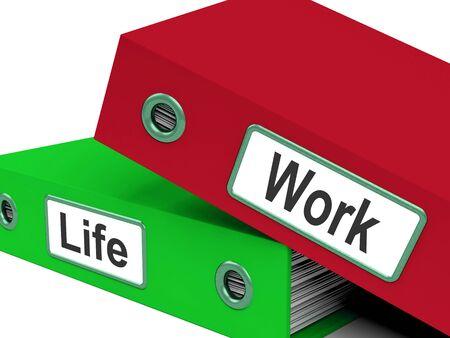 work life balance: Life Work Folders Meaning Balance Of Career And Leisure