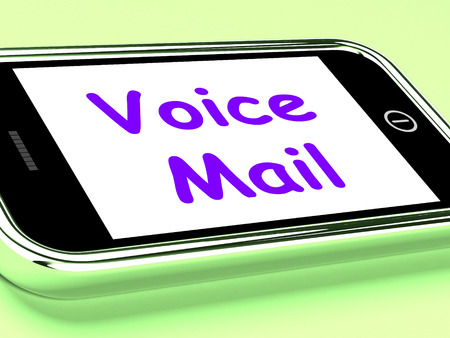 mobile voip: Voice Mail On Phone Showing Talk To Leave Message