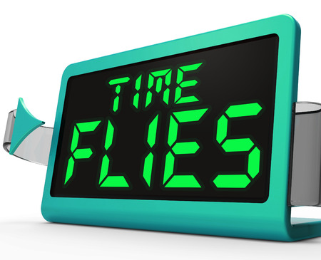 time flies: Time Flies Clock Meaning Busy And Goes By Quickly