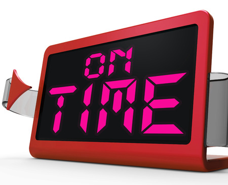 punctual: On Time Clock Showing Punctual And Reliable