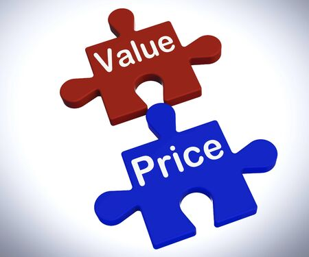 Value Price Puzzle Showing Worth And Cost Of Product