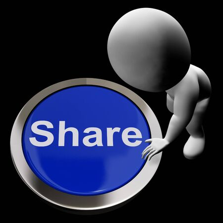 shared sharing: Share Button Meaning Sharing With And Showing