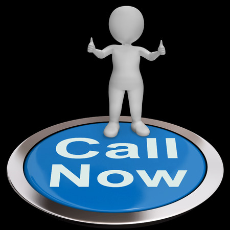 Call Now Button Showing Customer Support Helpline photo