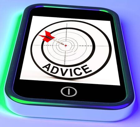 recommendations: Advice Smartphone Showing Web Tips And Recommendations