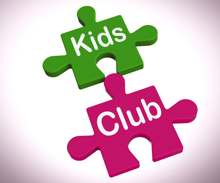 Kids Club Puzzle Showing Play And Fun For Children
