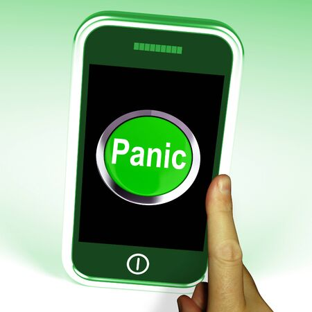 panicky: Panic Smartphone Meaning Anxiety Distress And Alarm