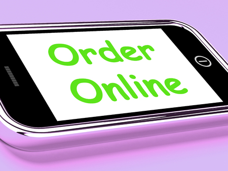 Order Online On Phone Showing Buying In Web Stores photo