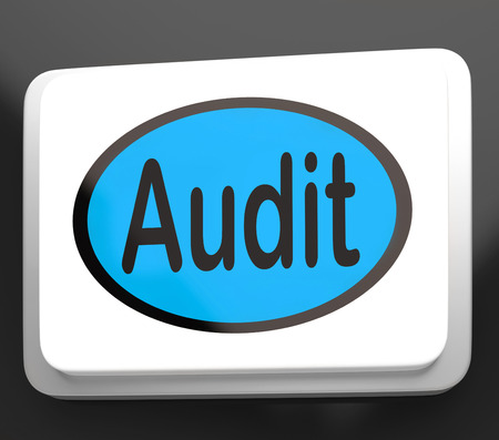 Audit Button Showing Auditor Validation Or Inspection Stock Photo - 26237393