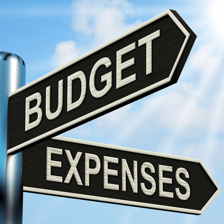 Budget Expenses Signpost Meaning Business Accounting And Balance