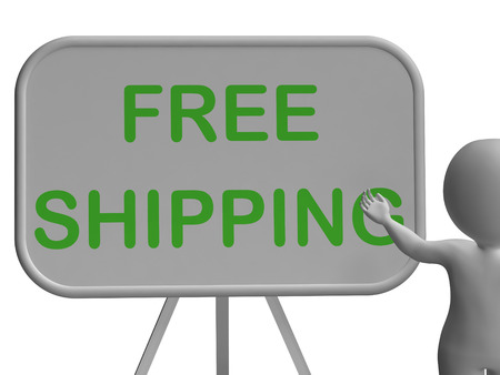shipped: Free Shipping Whiteboard Showing Item Shipped At No Cost