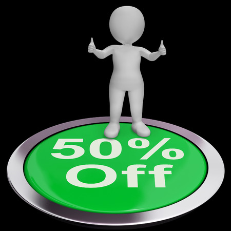 markdown: Fifty Percent Off Showing 50 Price Markdown