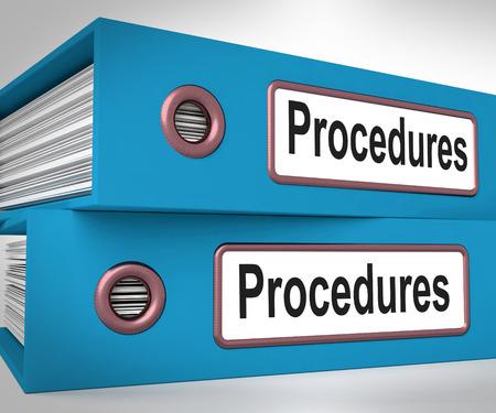 Procedure cartelle Significato processo corretto e Best Practice Archivio Fotografico - 26416756