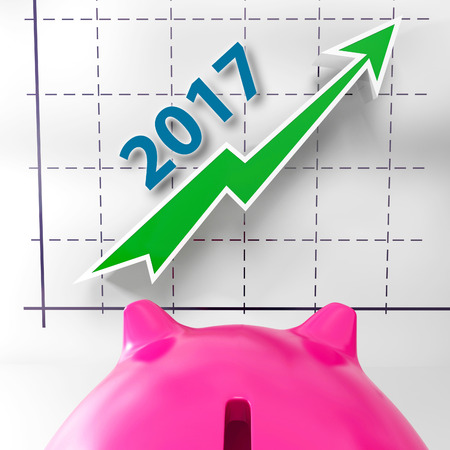 future earnings: Graph 2017 Meaning Future Earnings And Profits Stock Photo