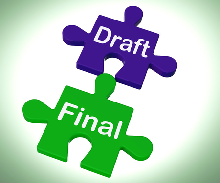 Draft Final Puzzle Showing Write And Rewrite
