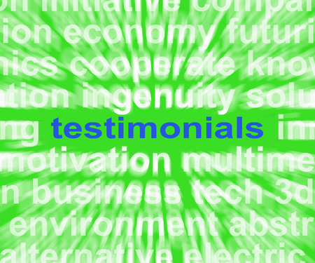 commendation: Testimonials Word Showing Supporting And Recommending Product Or Service