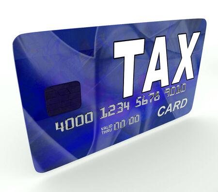 excise: Tassa sulla carta di debito di credito Mostrando Tasse e ritorno IRS Archivio Fotografico