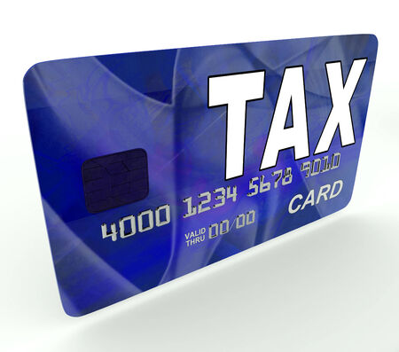 Tax On Credit Debit Card Showing Taxes Return IRS