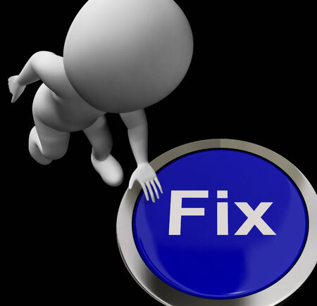 to mend: Fix Button Meaning Repair Mend Or Restore